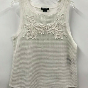 Trouve Sleeveless Embroidered Eyelet Tank Top -NWT